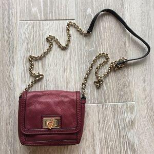 Maje Burgundy Shoulder Bag